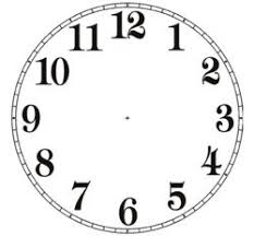Free Printable Clock Patterns Clock Face 2 Pdf Look For