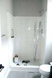 tile redi shower niche installation subway floor best showers ideas on grey white and sub
