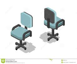 flat furniture. Vector Isometric Illustration Of Office Chair, 3d Flat Furniture Icon Stock - Backseat, Black: 85637947