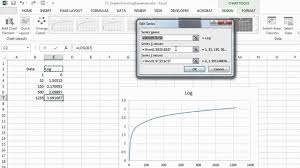 how to make graphs from log equations on excel microsoft