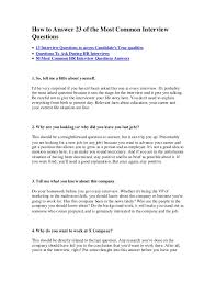 Common Marketing Interview Questions Resume Letter Cover Samples