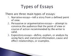 brad case english the standard five paragraph essay structure there are three main types of essays 1 narrative essays tell a story