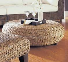 rattan coffee table wicker ottoman