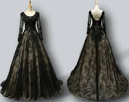 gothic wedding dress etsy