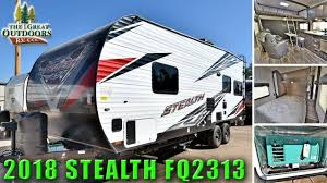new 2018 toy hauler stealth fq2313 bunk bed garage quality travel trailer rv colorado