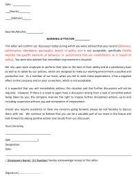 hr guide 5 warning letter templates