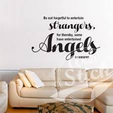 be not forgetful to entertain strangers on spiritual vinyl wall art with spiritual vinyl wall art archives artistick