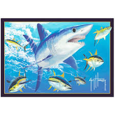 mako shark area rug
