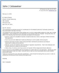 Cover Letter Medical Laboratory Technician Resumes Pinterest