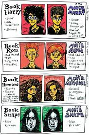 harry potter characters in the books vs the s it s funny because i always thought alan rickman was the perfect snape and was the image of snape in