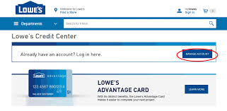 lowes credit card login guide cards