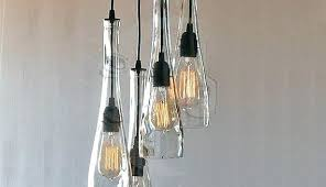 glass bottle chandelier glass bottle chandelier awesome the teardrop clear in addition to 0 wine glass