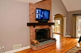 tv on brick fireplace hang