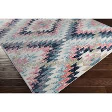 marvellous design pink and blue area rug 0