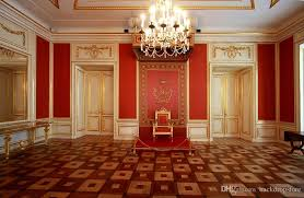 2018 indoor palace gold mosaic white doors photography backdrops red wall chair luxury crystal chandelier wedding photo booth background from backdrop