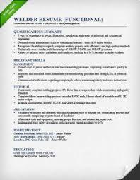 welder functional resume sample examples of functional resumes