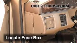 interior fuse box location 1993 1996 cadillac fleetwood 1995 1993 1996 cadillac fleetwood interior fuse check
