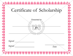 scholarship templates most useful scholarship certificate templates for the winners