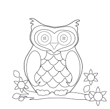 Owl Coloring Pages For Kids Printable Coloringstar