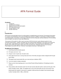 15 Beautiful Apa Style Paper Format Papersample