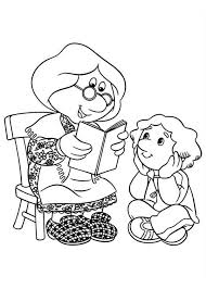 Small Picture Mrs Goggins Reading a Book for Julian Postman Pat Coloring Pages