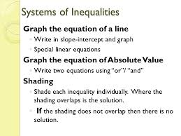 systems of inequalities graph the equation of a line write in slope intercept and
