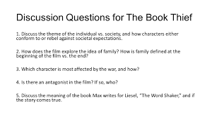 english ii to ppt video online  discussion questions for the book thief