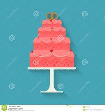 Flat Wedding Cake Designs Wedding Cake Style Flat Stock Vector Illustration Of