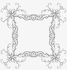 calligraphy border designs png clip