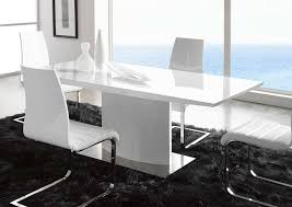 modern dining tables dinette furniture white lacquer dining table i66 white