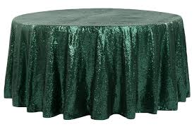 glitz sequins 120 round tablecloth emerald green deal of the day ends