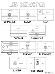 Small Picture Flags of Spanish Speaking Countries Coloring Sheets by Sra Cruz TpT