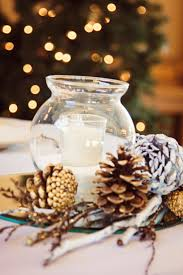 Astonishing Accessories For Wedding Table Decoration With Various Pine Cone  Wedding Centerpiece : Cozy Image Of