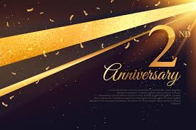 Anniversary Template 2nd Anniversary Celebration Card Template Download Free Vector Art