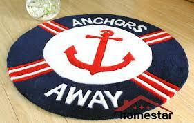 round nautical rug navy blue handmade round rug nautical home decorative carpet children kids room rugs round nautical rug
