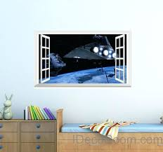 window wall art star wars star destroyer spacecraft window view wall decals wall art stickers