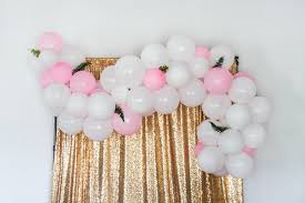 the easiest diy balloon garland tutorial a hosting home