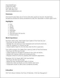 Child Care Resume Template Impressive Childcare Resume Templates Childcare Resume Template Professional