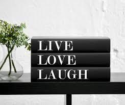 live love laugh decorative quote books