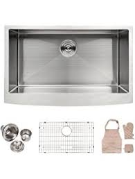 33 Inch Stainless Steel Single Bowl Curved Front Farmhouse Apron 30 Inch Drop In Kitchen Sink