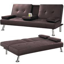 office sofa bed. Cheap Faux Leather TV Cinema Sofa Bed On Chrome Legs With Pull Down Drinks Holder By Southern Beds (Brown): Amazon.co.uk: Kitchen \u0026 Home Office P