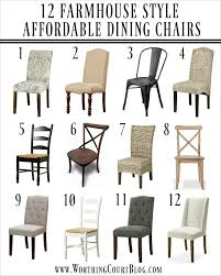 12 affordable farmhouse dining chairs