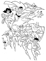 Small Picture Justice league coloring pages dc comics ColoringStar