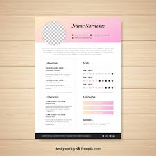 Cv Pattern Modern Cv Template With Elegant Style Vector Free Download
