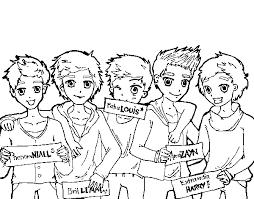 Disegno Di I Ragazzi Di One Direction Da Colorare Acolorecom