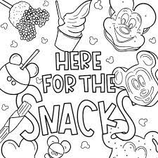 We may receive a commission if you these disney coloring pdf pages are great party activities too. Disney Coloring Pages We Re Here For The Snacks