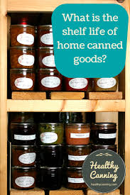 what is the shelf life of home canned goods