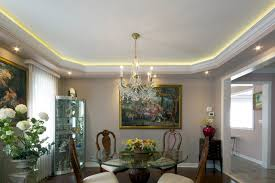coved ceiling lighting. Coved LED Lighting With Stretched Ceiling Traditional-dining-room