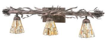 Exellent Rustic Bathroom Vanity Lights 107529 Pine Branch Light To Design Decorating