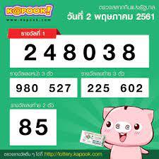 Kapook - ผลรางวัลสลากกินแบ่งรัฐบาล วันที่ 2 พฤษภาคม 2561 #ตรวจหวย  ทั้งหมดที่นี่ http://lottery.kapook.com